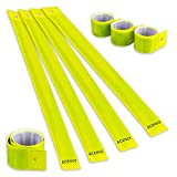 ECENCE Set of 8x Slap armbands Reflector strips Safety bands Snap armbands reflective