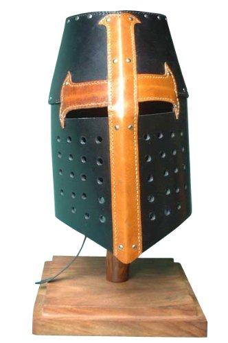 Kreuzritter - Topf- Helm, 13. Jahrhundert, Rindsleder