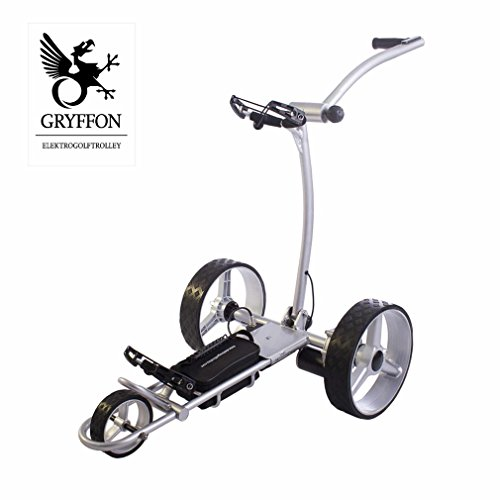 Elektro Golf Trolley GRYFFON Basic silber mit Lithium Akku / Elektro Caddy Golf / Elektro Trolley X2-LTS