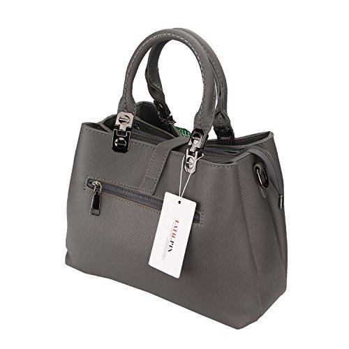 Moda Borse Borsa a Mano Donna Handbag Per Lavoro Scuola Viaggio Party Regalo Business Vari Colori-LATH.PIN Grigio