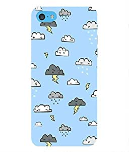 For Apple iPod Touch 6 -Livingfill- Rainy Cloud patterns Printed Designer Slim Light Weight Cover Case For Apple iPod Touch 6 (A Beautiful One of the Best Design with a Classic Theme & A Stylish, Trendy and Premium Appeal/Quality) (Red & Green & Black & Yellow & Other)