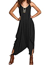 de7b5b73cfa Ladies Womens All in One Summer Beach Sleeveless Baggy Romper Harem Jumpsuit  Play-suit Tops