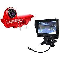 HD Impermeable del IR de Vision Nocturna Camara Vision Trasera Backup Tercera luz de Freno para 2014 Opel Vivaro / 2014 Renault Trafic + HD de 7 Pulgadas reversa retrovisor Monitor