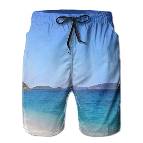 Nisdsh The Sea Mens Swim Trunks Quick Dry Board Shorts with Pockets Summer Beach Short with Mesh Liner£¬ Large Custom Fit Mesh Rugby