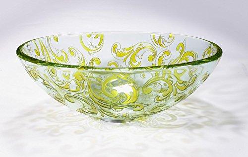 Xie (Verre Art Lavabo Pots de table de salle de bain Maison Art Lavabo T12 * ? 420 * 95 mm