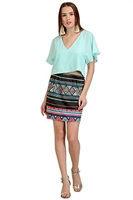 aztec print short skirt