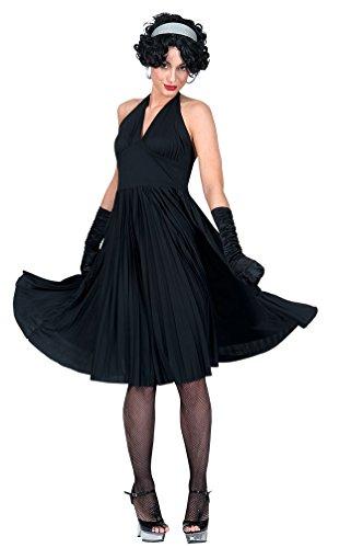 Karneval Klamotten Kostüm Kleid Marilyn schwarz Dame Karneval Show Damenkostüm Größe 36/38 (Marilyn Monroe Kostüm Für Kinder)