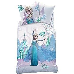 Disney Frozen Arabesque–Juego de Cama (algodón, Color Blanco, 135x 200cm, 2Unidades de Medida