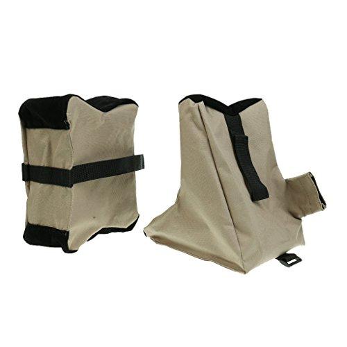MagiDeal Waffen Auflage Set: Vorderschaftauflage + Hinterschaftauflage Gewehrauflage Waffenauflage, gute Verarbeitung und tragbar, für Jagd Sport (Tasche, ungefüllt)