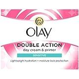 Olay Double Action Moisturiser Day Sensitive Cream and Primer, 50ml