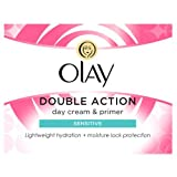 Olay Double Action Moisturiser Day Sensitive Cream and Primer, 50 ml