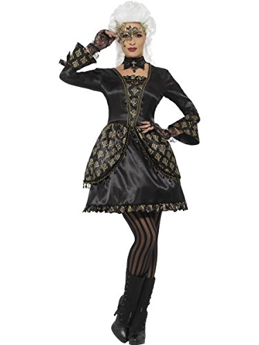 Smiffys Damen Kostüm Barock Maskenball Halloween Karneval Fasching ()