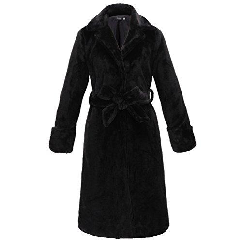 Yilianda le donne è autunno - inverno elegante lunghi peli sintetici outwear giacca cappotto l