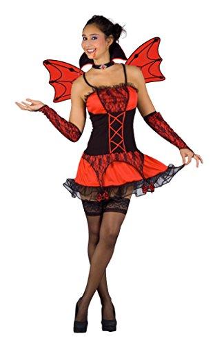 Blumen Paolo-Vampirella Burlesque Kostüm Erwachsene Womens, Rot, M, (True Blood Kostüm Party)