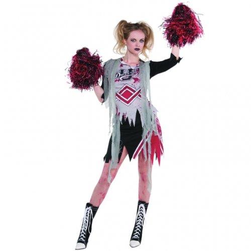 Imagen de christy's  disfraz de animadora zombie para mujer talla 38 40