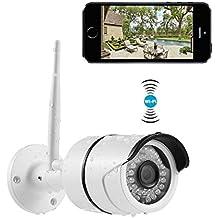 Cámaras de Vigilancia Inalámbricas INKERSCOOP 720P Cámara IP WiFi de Exterior Impermeable IP66 Tiene Detección de Movimiento Videocamara de Vigilancia con La Visión Nocturna Compatible con Smartphones iOS y Android