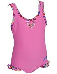 Zoggs Girl's Myola Scoopback Swimming Costume  - Blue, 20 Inch