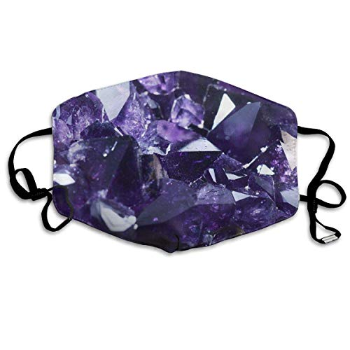 Monicago Einzigartige Unisex-Mundmaske, Gesichtsmaske, Purple Crystal Pattern Polyester Anti-dust Masks - Fashion Washed Reusable Face Mask for Outdoor Cycling