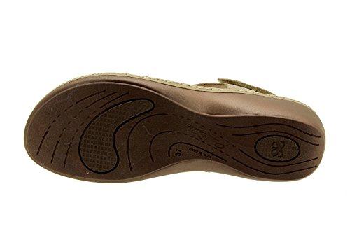 Chaussures Confort Femme Cuir Piesanto 8813 Sandales Semelle Amovible Confort Largeur Spéciale Visón