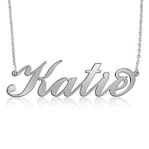 925 Silber Namenskette Silber -Personalisiert mit Ihrem eigenen Wunschnamen!
