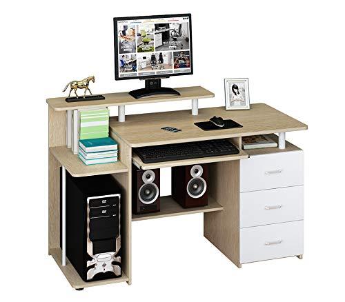 Hjh OFFICE 673952 Escritorio Stella Madera Roble/Blanco