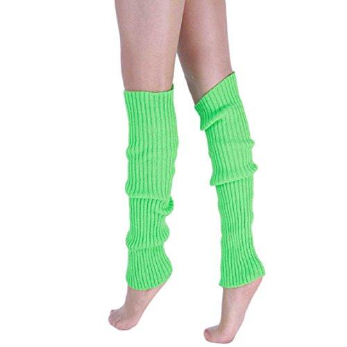 Vovotrade ❤❤ Neue Art- und Weisefrauen-warme Winter-klassische Bein-Wärmer-strickende Socken (Grün) (Winter Neue Stiefel)