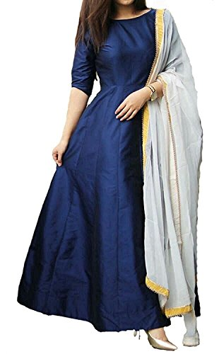 Lehenga Choli For Women party wear lehenga choli for girls of 18 years lehenga choli for women lehenga choli for wedding function Occational Reception Ceremony (Blue)  available at amazon for Rs.501