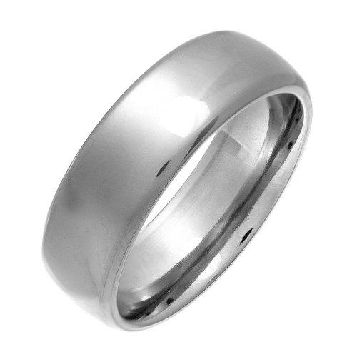 Theia Ring Titan Court Shape - hochglanzpolierter 7mm - Größe 72 (22.9)