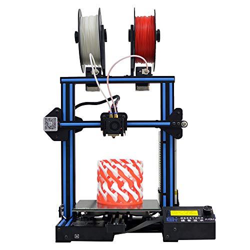 Geeetech A10M Impresora 3D Kit de bricolaje Perfil de aluminio Ensamblaje rápido 220 * 220 * 260 mm Soporte 2-en-1 Impresión en color Mezcla Reanudar capacidad Detector de filamento con extrusora