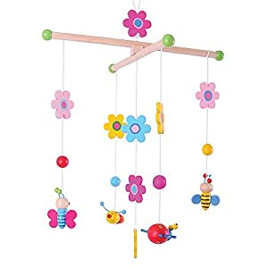 Bigjigs Toys Wooden Garden Mobile - Cot and Nursery Accessories