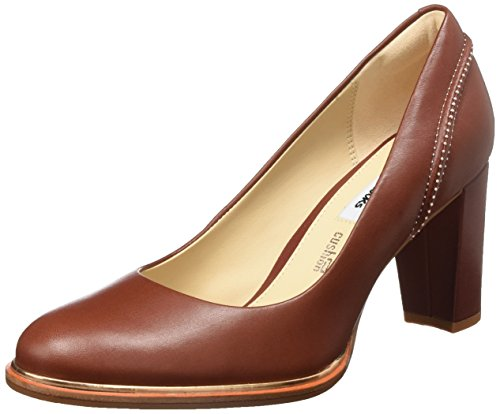 Clarks Damen Ellis Edith Pumps, Rot (Rust Leather), 41.5 EU