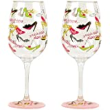 Lolita Set of 2 Acrylic Plastic Wine Glasses - Stiletto