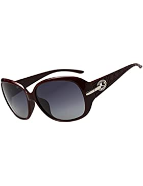 DUCO Women ' s Shades Classic de gran tamaño polarizado gafas de sol 100% protección UV 6214