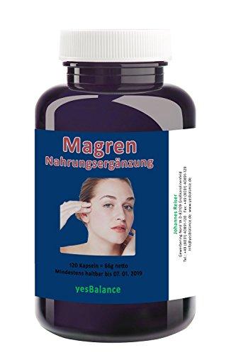 MAGREN - YesBalance - yb4040040 - Innovative Nahrungsergänzung mit Magnesium, Ingwer (DE-ÖKO-006 –Kontrollstelle) und Vitamin D3. Für einen leistungsfähigen, freien Kopf ohne Kopfweh - Packungsgößen 120,240, und 360 Kapseln (120 Kapseln) (D3 Vitamin 3000)