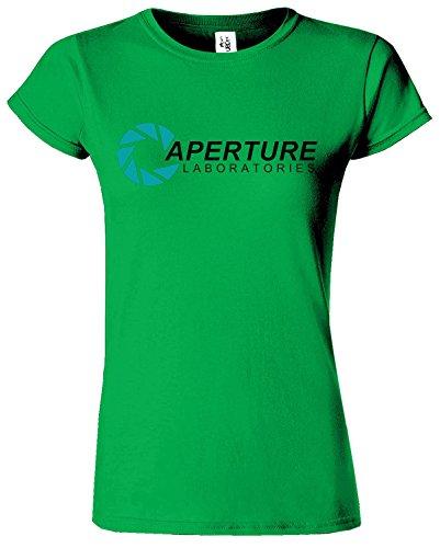 APERTURE LABORATORIES Frauen-T-Shirt Portal LAB T Top Irish Grün / Schwarz Design