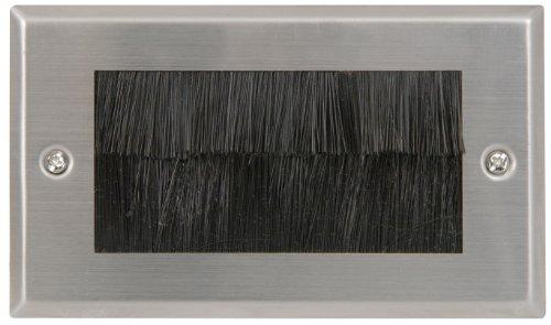 acier-cable-entree-sortie-brosse-plaque-murale-pour-mur-prise-uk-double-gang