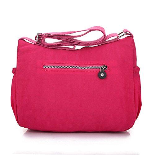Outreo Kuriertasche Damen Umhängetasche Designer Schultertasche Mode Taschen Leichter Messenger Bag Reisetasche Lässige Wasserdicht Sporttasche Rot 1