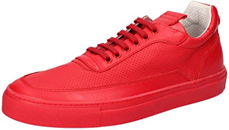 Mariano Di Vaio Sneaker Herren Schnürsenkel Mercury 774M Pelle Rot