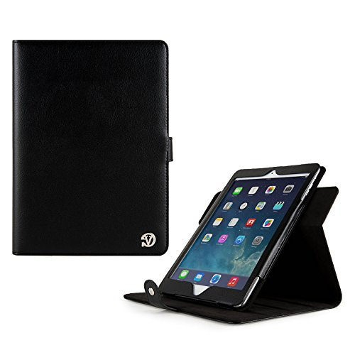VG Arthur Executive Leather Standing Portfolio Case for Apple iPad Air 9.7 inch Tablet (Black)