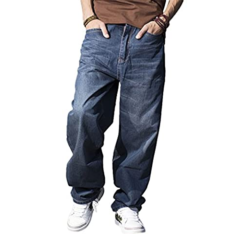 RUIXI Men's Hip Hop Jeans Denim Pants
