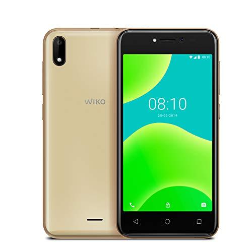 Wiko Y50 Smartphone débloqué 3G+ (Ecran: 5 pouces - 8Go - Micro Sim + Nano Sim - Emplacement Micro Sd pour Mémoire extensible jusqu'à 32Go) Gold
