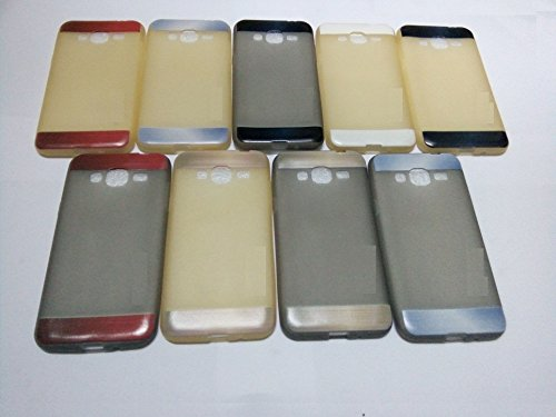 Teflon Soft Silicon Back Pouch For - Samsung Galaxy J3 - Grey / Brown