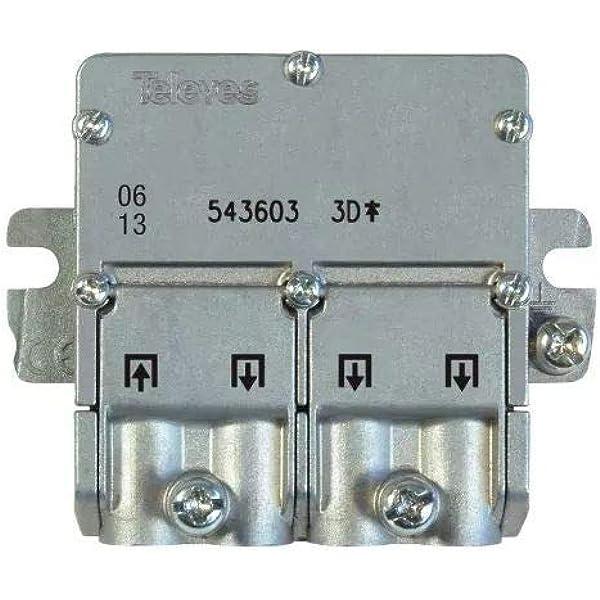 Televes 5451 - Repartidor EMC 1E 3S 543603, Acero Inoxidable ...