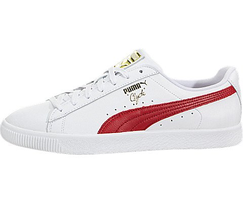 3be435c94141c PUMA Select Men's Clyde Sneakers, White/Cherry/Gold, 9.5 D(M) US