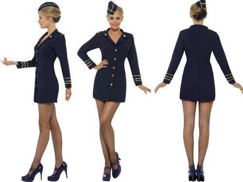 Damen Kostüm Stewardess blau-BA-Stil, verschiedene Größen
