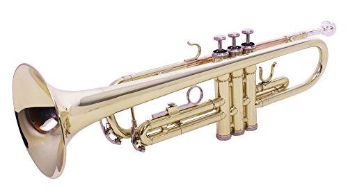 Windsor Student Bb Trompete komplett mit Koffer, Goldlackiert [UK import]