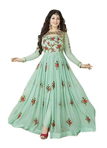 Ethnic Yard Stylish Designer Embroidered Gerorgette Bollywood Anarkali Salwar suit