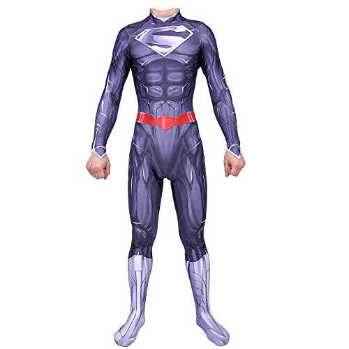 WEGCJU Superman Strumpfhosen 3D Print 2019 Halloween Kostüm Overall Lycra Anime Strumpfhosen Schlacht Kleidung Overalls Attire Movie Party ()