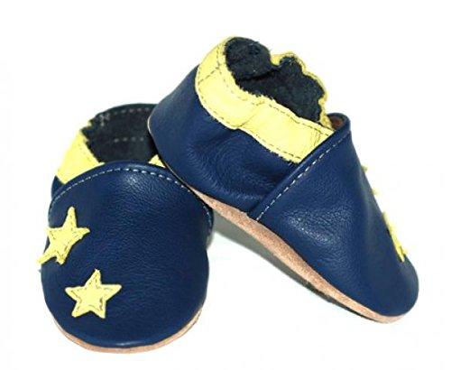 Fiorino , Chaussures souple pour bébé (garçon) noir Cowboy Taille S Étoiles