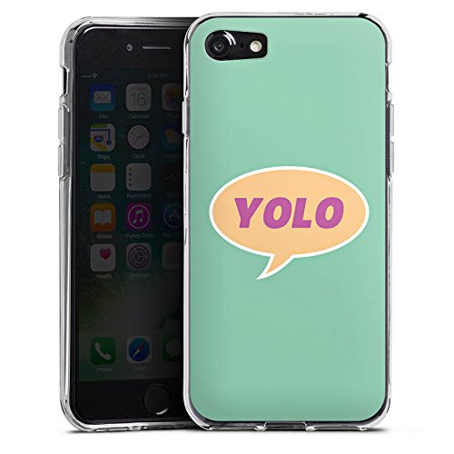 Apple iPhone X Silikon Hülle Case Schutzhülle YOLO Sprechblase Statement Silikon Case transparent